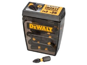 Dewalt DT70555T Impact Torsion Bits PH2 25mm - 25 Pack Tic Tac Dispenser